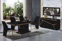 Paris 8 Seater Dining Set (Black)