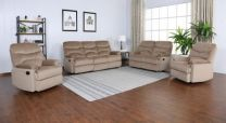 Blaire Fabric Recliner Sofa (Mocha)