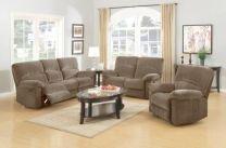 Victoria Fabric Recliner Sofa Set (Beige)