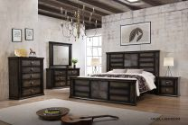 Angela Queen Bed with 2 Night stands