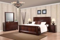 Athena King Bed with 2 Nightstands