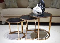 Aura Nesting Stool (Rose Gold)