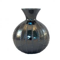 Black Cylindrical Vase