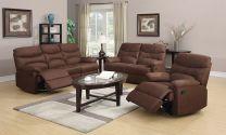 Blaire Fabric Recliner Sofa (Dark Brown)