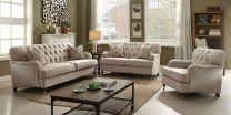 Camila Brown Fabric Sofa (7 seater)