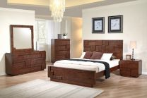 Cubic Queen Bed with 2 Night stands