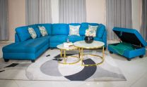 Marilyn L-Shaped Sofa (Blue)