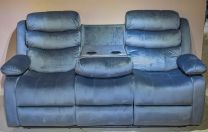 Denver 6 Seater Fabric Recliner  (Grey)
