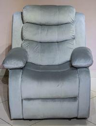 Denver 5 Seater Fabric Recliner  (Light grey)