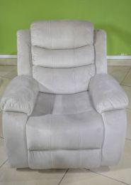 Hamilton 5 Seater Fabric Recliner  (Beige)