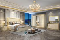 Paris King Bed with 2 Night stands