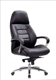 REAL HIGH BACK LEATHER OFFICE CHAIR