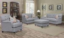 Camila Beige Fabric Sofa (7 seater)