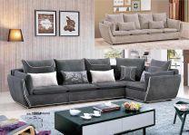 Jameela L-Shaped Sofa (Brown)