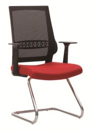 ATHENS MESH VISITOR OFFICE CHAIR (RED BLACK)