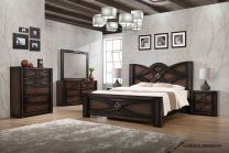 Lamour Queen Bed with 2 Night stands