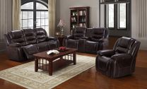 Lewis Aire Leather Recliner Sofa Set