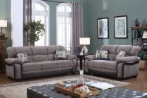 Liari Grey Fabric Sofa Set (6 seater)