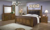 Lillie Queen Bed with 2 Night stands