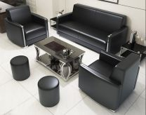 Lithium Leather Office Sofa Set