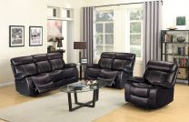 Oliver Aire Leather Recliner Sofa Set