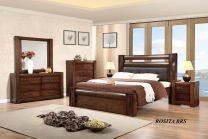 Rosita King Bed with 2 Night stands