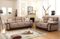 Liari Beige Fabric Sofa Set (6 seater)