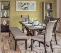 Sonya 4 Seater + Bench Dining Set