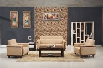 Diamond Leather Office Sofa Set