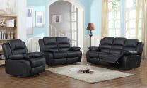 MARIA AIRE LEATHER RECLINER SOFA (BROWN)