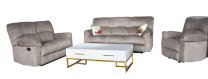 Victoria Fabric Recliner Sofa Set (Beige)