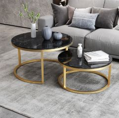 Nora Coffee Table Set (Black)