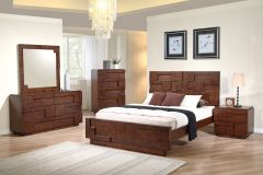 Cubic King Bed with 2 Night stands