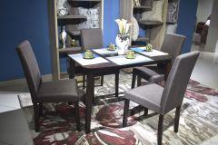 Elva 4 Seater Dining Set (Brown)