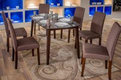 Elva 6 Seater Dining Set (Brown)